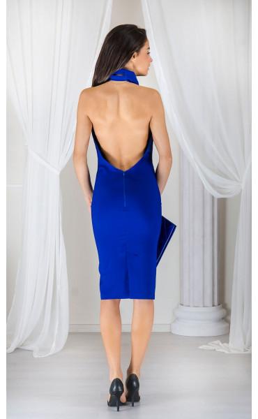 Елегантна рокля с гол гръб_17357
