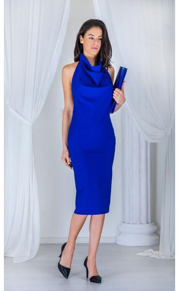 Елегантна рокля с гол гръб_17358