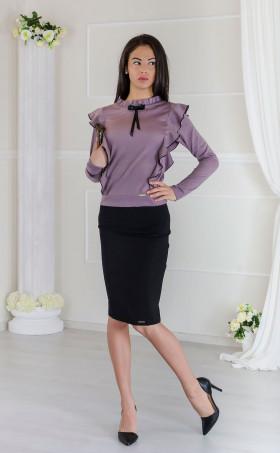 Елегантна делова дамска блуза Lilac