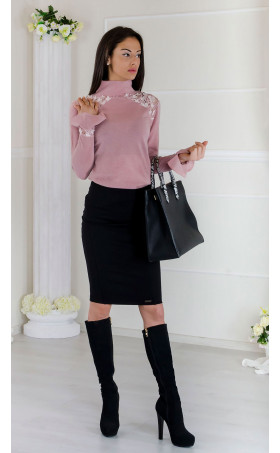 Фина плетена блуза Flowers