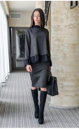 Елегантен комплект пола и блуза Ашли