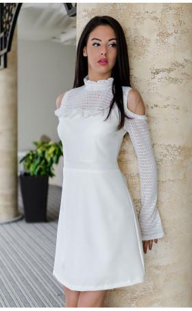 Стилна нежна рокля с голи рамене Sense