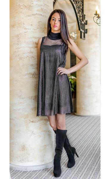 Вечерна рокля със сребърен отенък Silver glow_17625