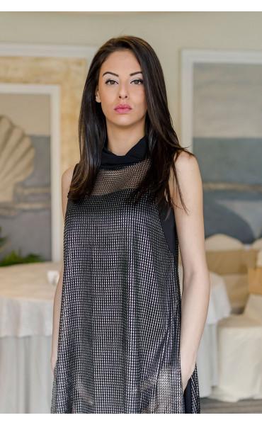 Вечерна рокля със сребърен отенък Silver glow_17626