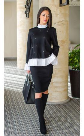 "Елегантен комплект пола и блуза Ашли ""Черно и бяло"""
