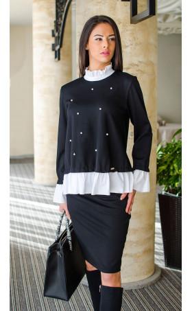 Делова ежедневна блуза Black and white