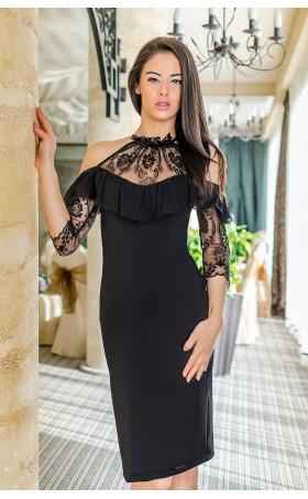 Изискана вечерна рокля Black crystal