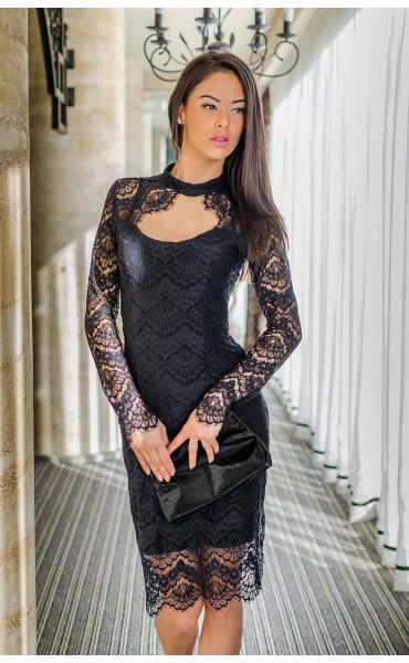 Официална вечерна дантелена елегантна рокля Шарлот