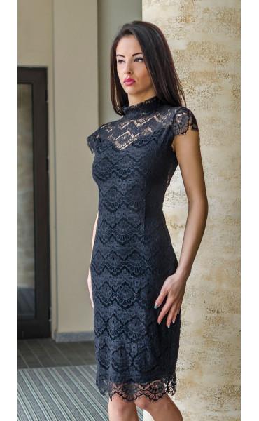 Вечерна официална дантелена рокля Алегра_17816