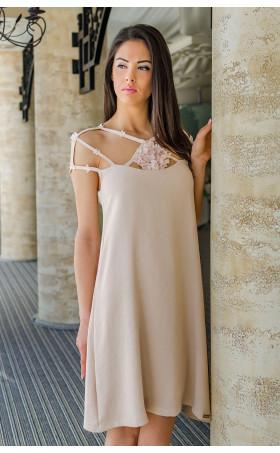 Изключително нежна лятна рокля Pink Flowers