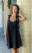 Атрактивна черна рокля с гол гръб Lollipop Black