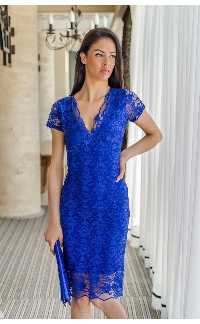 Дантелена рокля Blue Sapphire