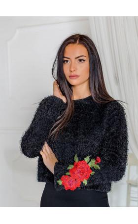 Кокетен мини пуловер Roses