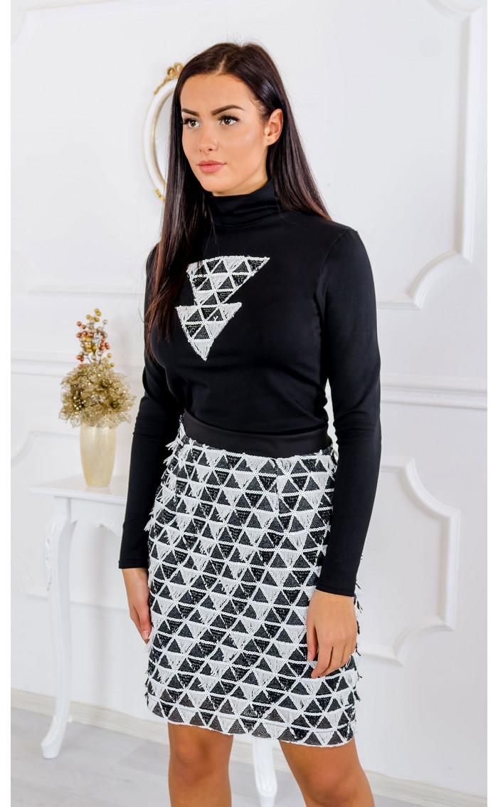 Блуза с декорация от пайети Arrow