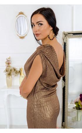 Коктейлна рокля Old gold