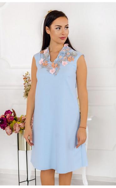 Елегантна разкроена рокля Lady in Blue