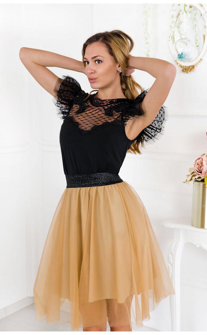 Черна блузка Charm