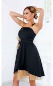 Официална разкроена рокля с ръчно изработени акценти La fleur