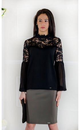 Елегантна дамска блуза тип риза Франсис