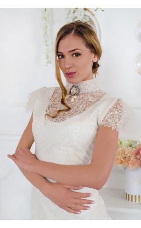 Изискана рокля от луксозна дантела Vanilla