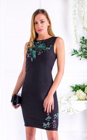 Вечерна рокля с пайетена дантела Exotic flowers