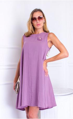 Рокля Purple Linen