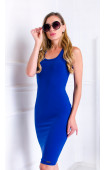 Спортна синя рокля