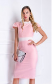 Делова рокля в розов цвят Морийн
