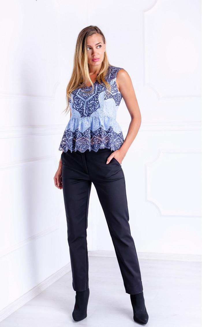 Стилен панталон в черно Basic Elegance