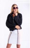 Black Casual Long sleeve Zip fastening Cardigan