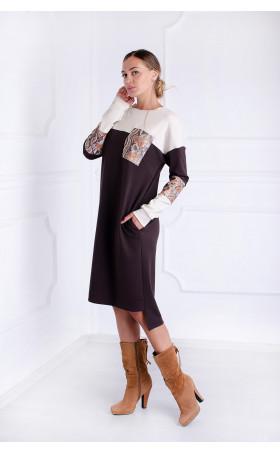 Ежедневна рокля Accent brown