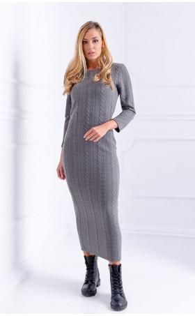 Дълга сива рокля