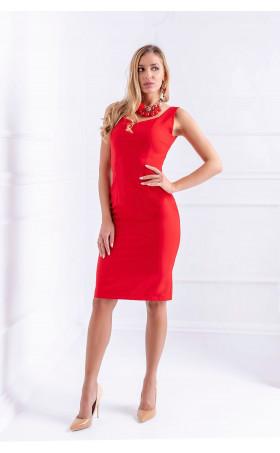 Стилна червена рокля