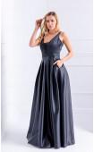 Официална дълга рокля в черно Black swan