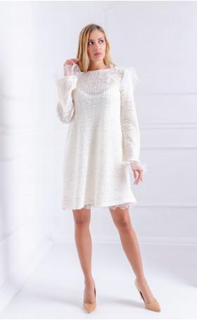 Нежна рокля от плетиво Snow flowers