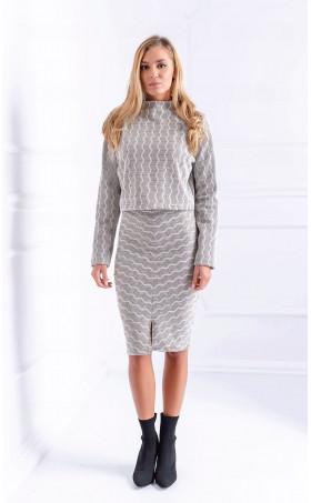 Жакардов комплект пола и блуза