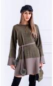 Ежедневна рокля от плетиво и памук