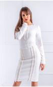 Блуза в бяло с акценти