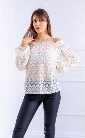 Дантелена блузка Flowers