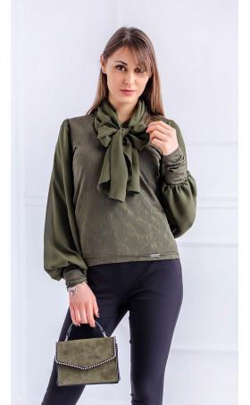 Блуза с широк ръкав