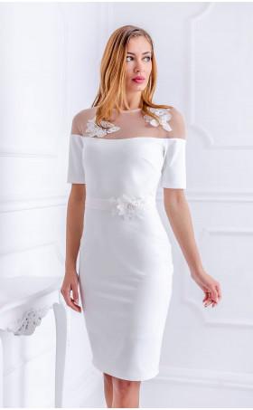 Бяла рокля White Flowers