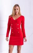 Нежна червена къса рокля Red Passion