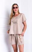 Комплект ленени панталонки с топ Vibes