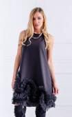 Изящна черна рокля с тюл Winter's Tale