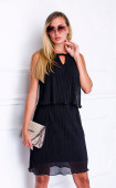 Черна рокля солей с атрактивна харбала Sooo good