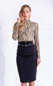 Блуза от фина мрежа Zebra brown