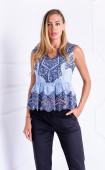 Елегантна дантелена блузка Blue Sence