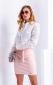 White sport elegant long sleeve floral lace spring summer jacket