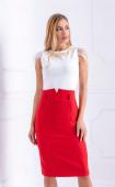Червена пола с висока талия Superwoman