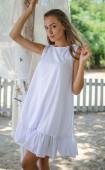 Бяла лятна свободна рокля White